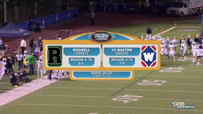 Roswell Hornets vs. Walton Raiders (10/19/18)