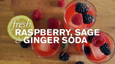 Fresh Raspberry, Sage & Ginger Soda