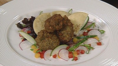 Eggplant Falafel with Tahini Dressing with Monique Barbeau