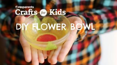 Tissue Paper Flower Bowl