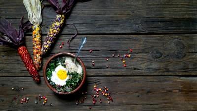 Polenta, Greens and Eggs