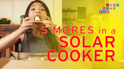 Making S'Mores in a Solar Cooker