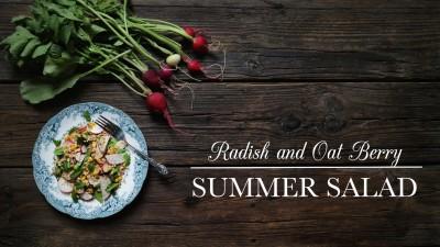 Radish and Oat Berry Summer Salad