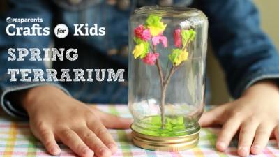 DIY Spring Tree Terrarium