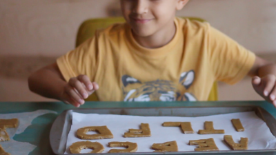 Bake Gingerbread Letters