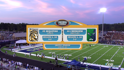 Sequoyah Chiefs vs. Creekview Grizzlies (09/28/18)