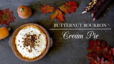 Butternut Bourbon Cream Pie