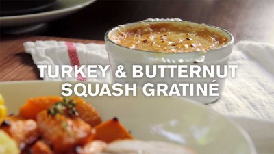 Baby Thanksgiving: Turkey & Sweet Potato Gratiné