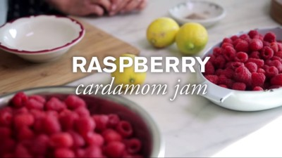 Homemade Raspberry Cardamom Jam