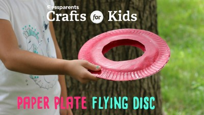 Paper Plate Flying Disc