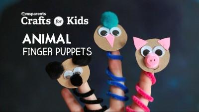DIY Animal Finger Puppets