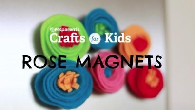 DIY Rose Magnets