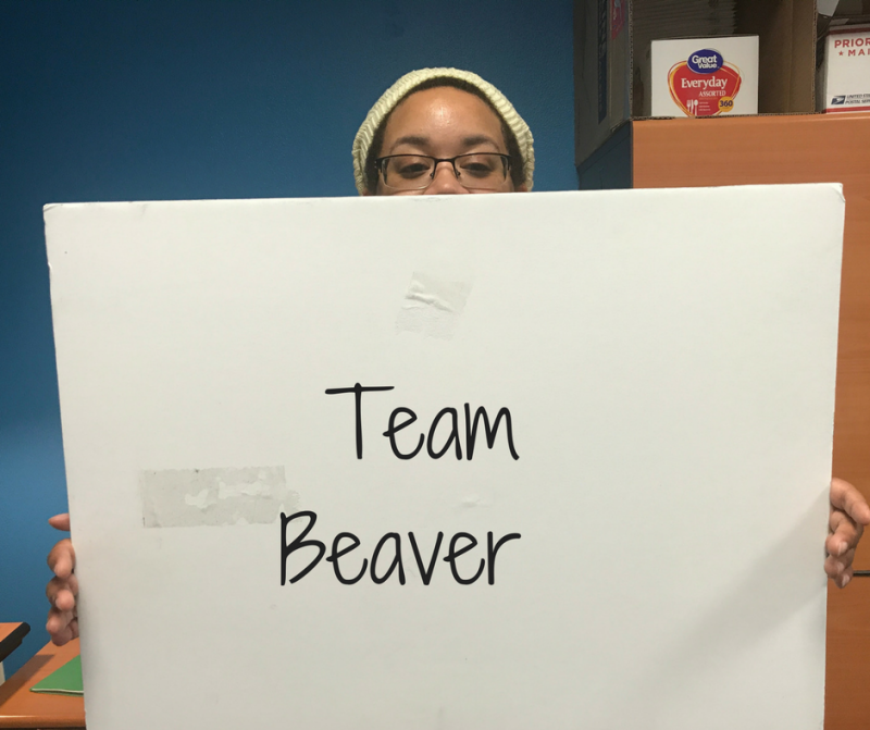 Danielle Turner, Member and Audience Services Associate, was dubbed a beaver by the quiz.