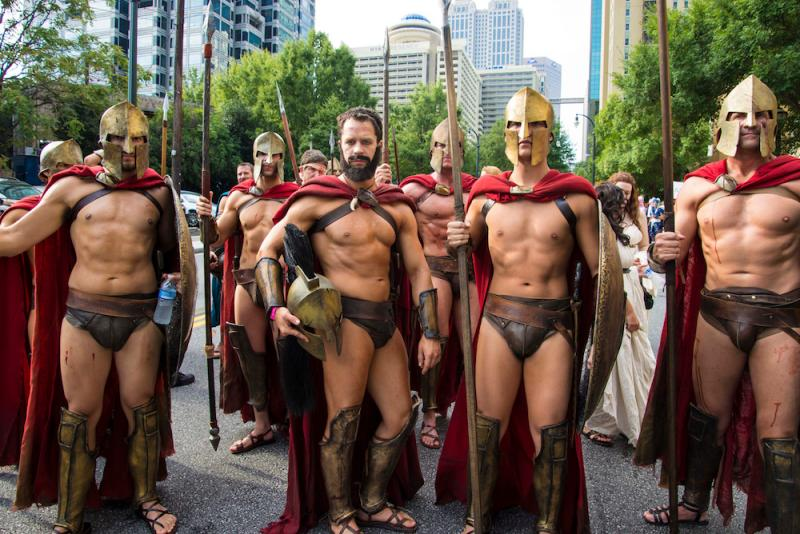 The 300 Cosplay group