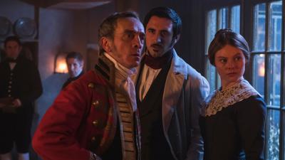 Mr. Penge, Mrs. Skerritt, and Mr. Francatelli downstairs at Buckingham Palace