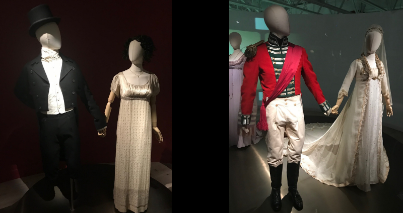 Wedding attire from Pride and Prejudice and Sense and Sensibility on display at SCAD Fash