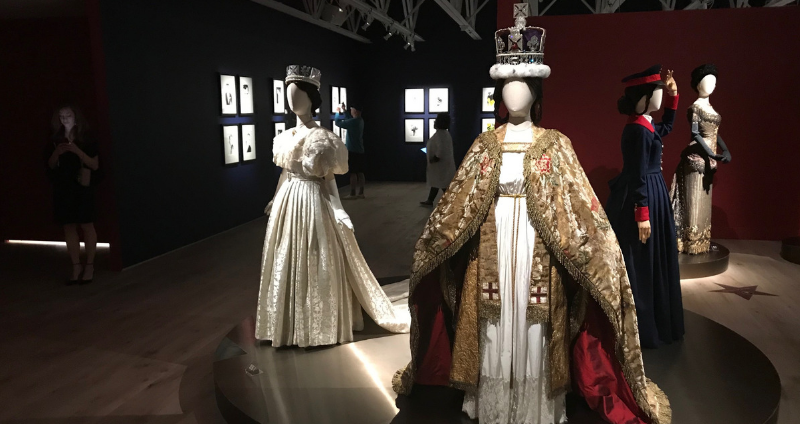Costumes worn by Jenna Coleman as Queen Victoria at SCAD Fash