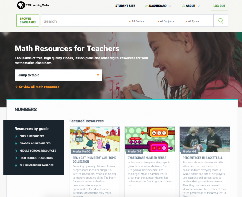 Math Resources for Teachers Page