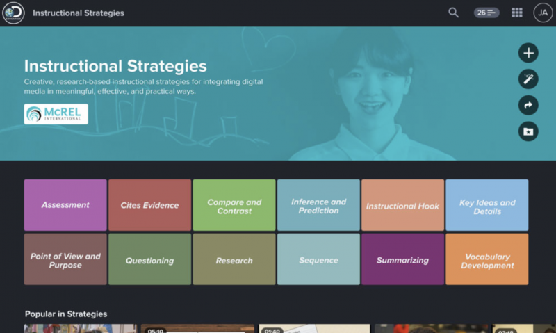 The New Instructional Strategies Layout