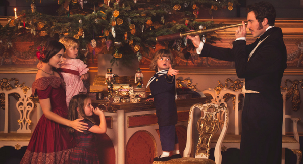 Victoria and Albert at Christmas with their children