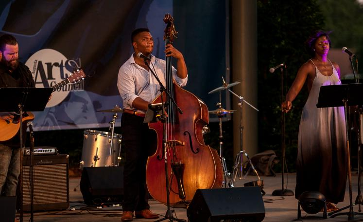 "Reggie Sullivan Trio performing a song from ""The Color Purple"""