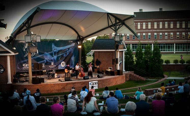 Straight A Jazz at the Barnard Amphitheatre on the Augusta University campus