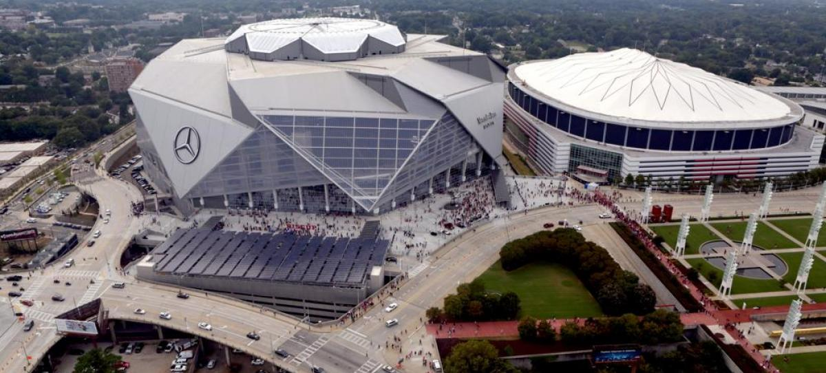Headed to the mercedes benz stadium georgia public for Who owns mercedes benz stadium