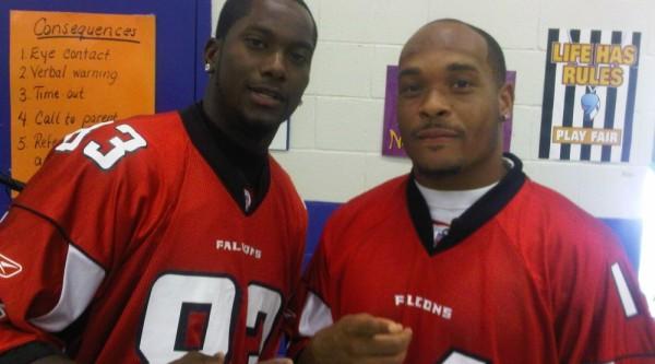 Atlanta Falcons Harry Douglas and Eric Weems
