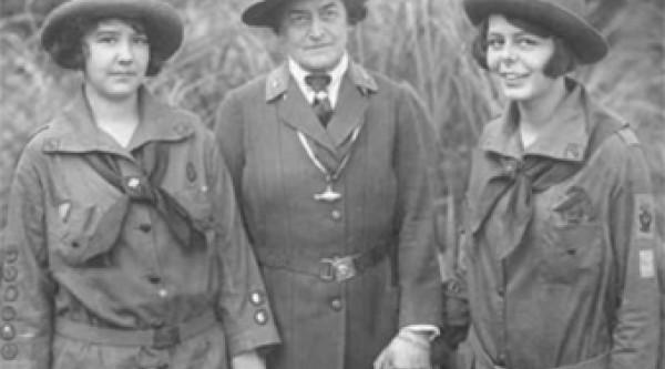 Juliette Gordon Low in her Girl Scouts gear.