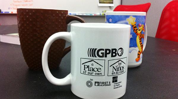 New Media team mugs... our loyal friends.