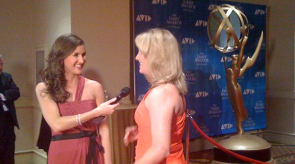 Former GPB intern Ashley Mengwasser co-hosts the 2013 Southeast Emmys red carpet special.