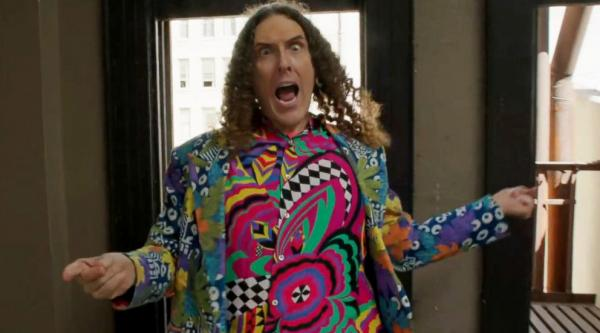 "Weird Al makes fun of Pharrell's ""Happy"" with his version ""Tacky."""