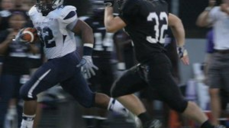 The Blue Devils outran the Lions tonight in Norcross. Photo courtesy Norcross High School