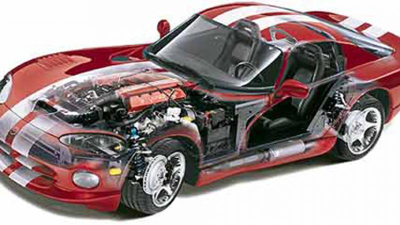 Schematic of a 1999 Dodge Viper. Image courtesy of Jeff Shmanske and http://www.chattcougar.com/jshmanske/
