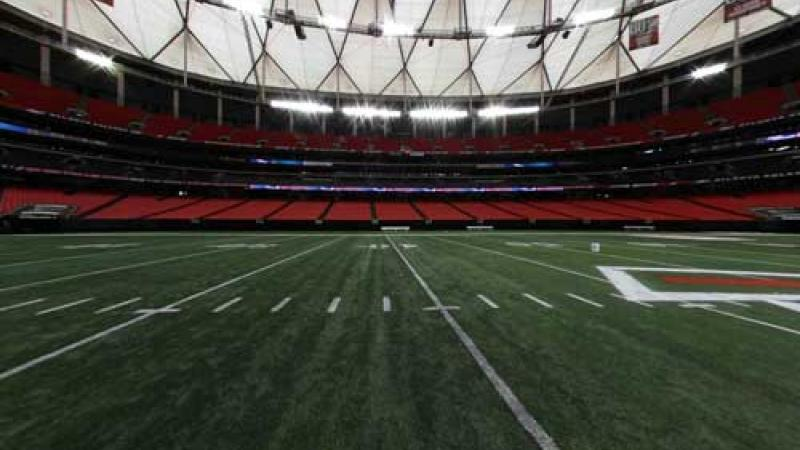 (Atlanta) Still from 360 panorama view of the Georgia Dome.