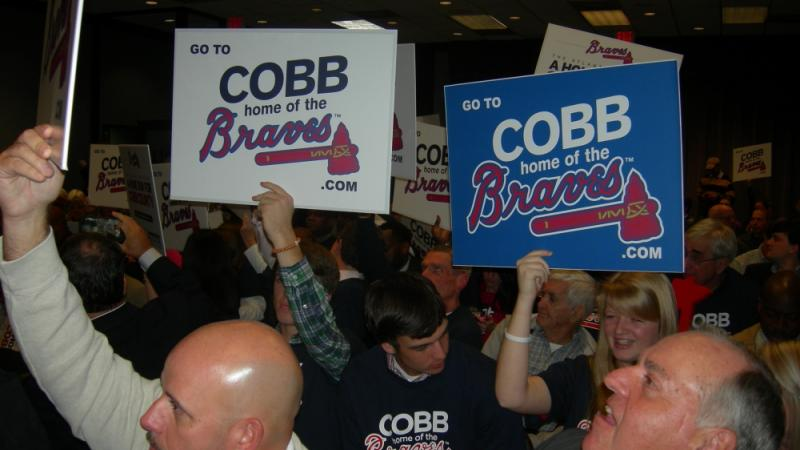 (photo: Saporta Report) The Atlanta Braves New Home is Cobb County