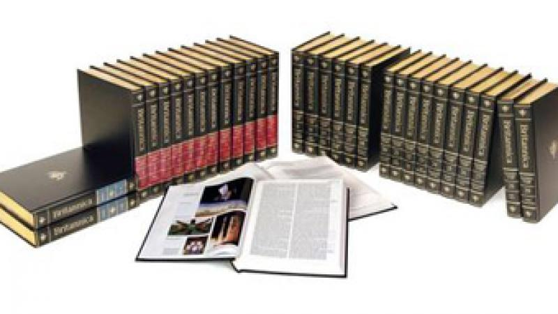 A new Encyclopædia Britannica print set will no longer be published. Photo courtesy NPR.