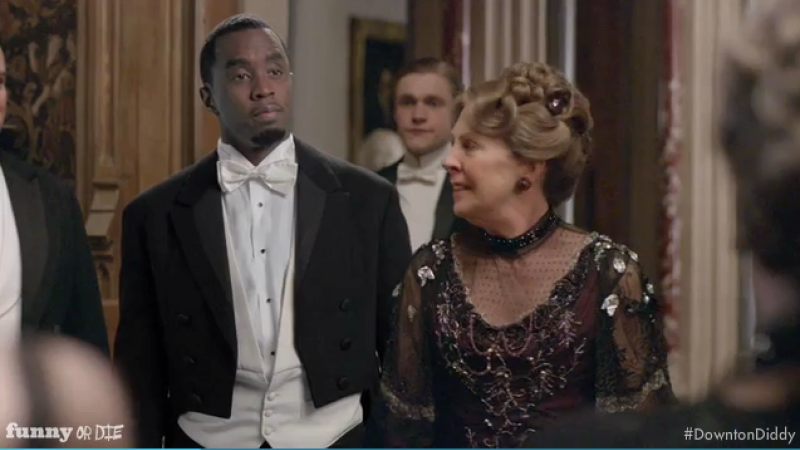 "Sean ""Diddy"" Combs appears in Funny or Die spoof ""Downton Diddy""."