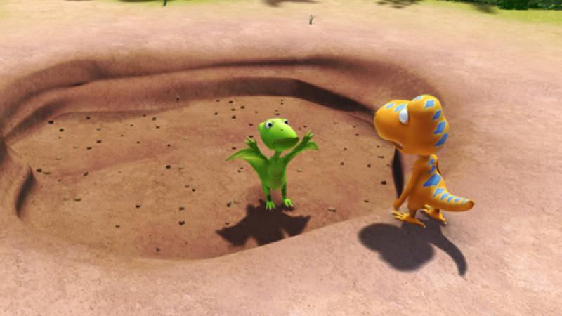 Don and Buddy discover that the weather's been very dry lately. (IMAGE: The Jim Henson Company. All Rights Reserved.)