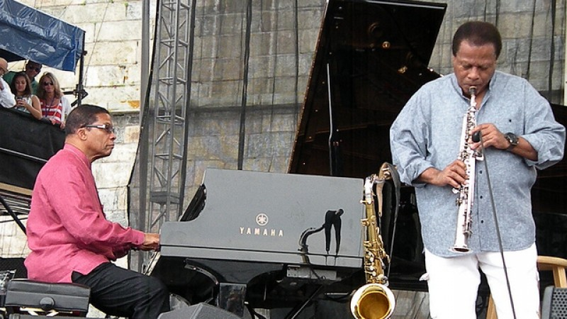 Herbie Hancock & Wayne Shorter at the 2013 Newport Jazz Festival