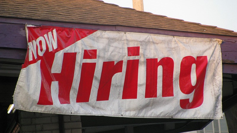 Hiring has increased in the private sector.