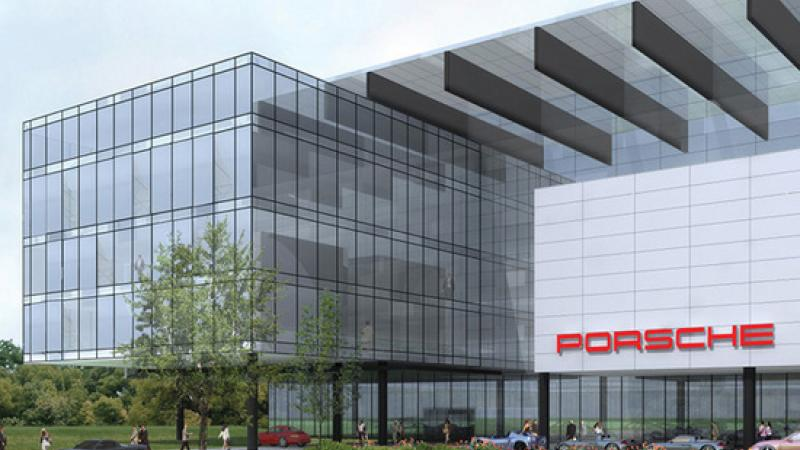 The new Porsche Headquarters will include a driving and training track.