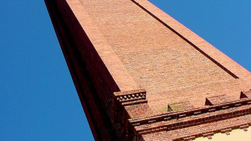 In Augusta, the original chimney of the Confederate Power Works still stands. (photo courtesy Sir Mildred Pierce)