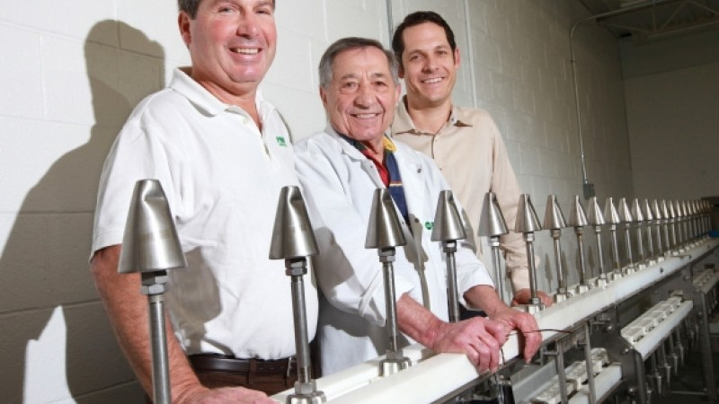 Geno Gasbarro (center) is the man behind much of the chicken consumed in the U.S. (photo courtesy of Dispatch.com)