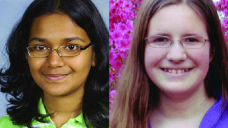 Simola Nayak (left) and Rachael Cundey (right) are Georgia's representatives to the National Spelling Bee.