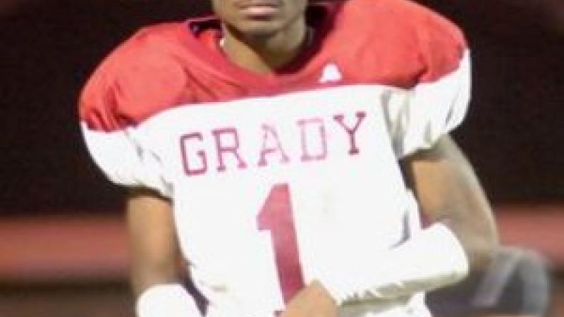 Star defensive back and wide receiver Damian Swann and Grady defeated St. Pius in a key region game. Photo by Grady High School