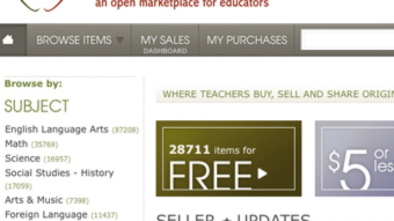 TeachersPayTeachers is a online marketplace where educators can submit and buy lesson plans and materials from each other.