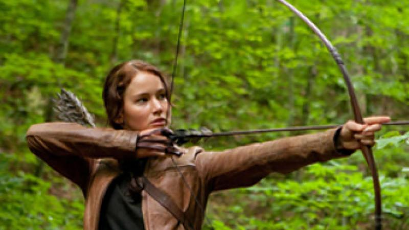 "Jennifer Lawrence stars as 'Katniss Everdeen' in ""The Hunger Games."" Photo credit: Murray"
