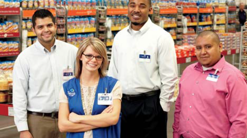 Walmart surprised 350 employees with promotions and have 160,000 more promotions yet to come in the next three months.