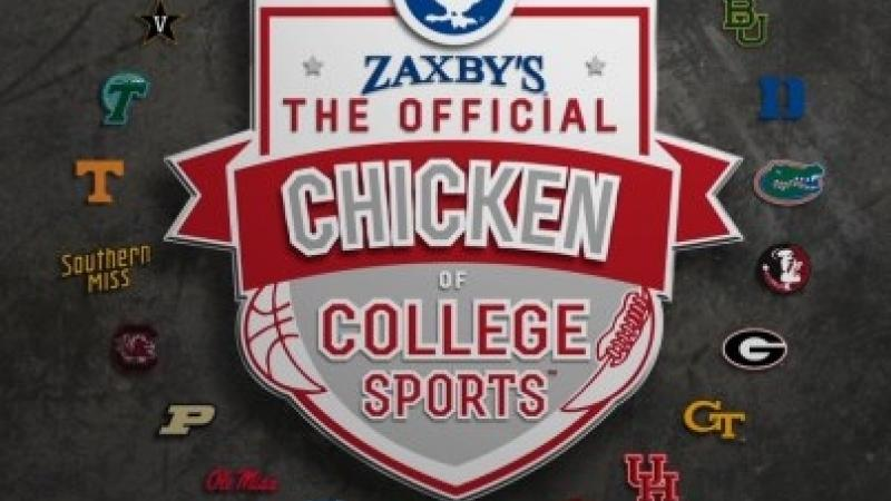Zaxby's Has a 2-Year Deal to Sponsor Some of America's Most Well-Known College Sports Teams